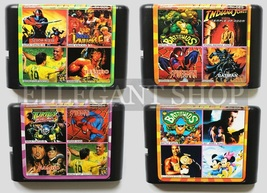 Multi Cart 4 In 1 For Genesis Battletoads Knock Out Boxing Shinobi Bond 007 - $16.99