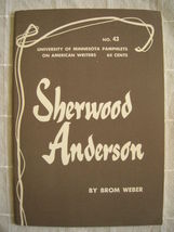 1964 Sherwood Anderson - Pamphlets on American Writers #43 Lit Criticism - $19.99