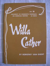 1964 Willa Cather - Pamphlets on American Writers #36 Lit Criticism - $19.99