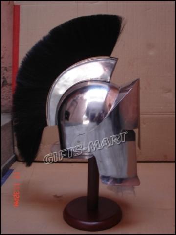 300 King movie Spartan Helmet Medieval larp helmets, Greek Leonidas Armor Helm