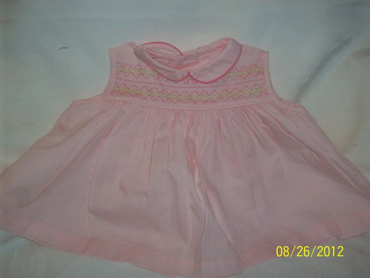 Vintage Pale Pink Baby Doll 1950's/ 60's Dress Clothing for Dolls