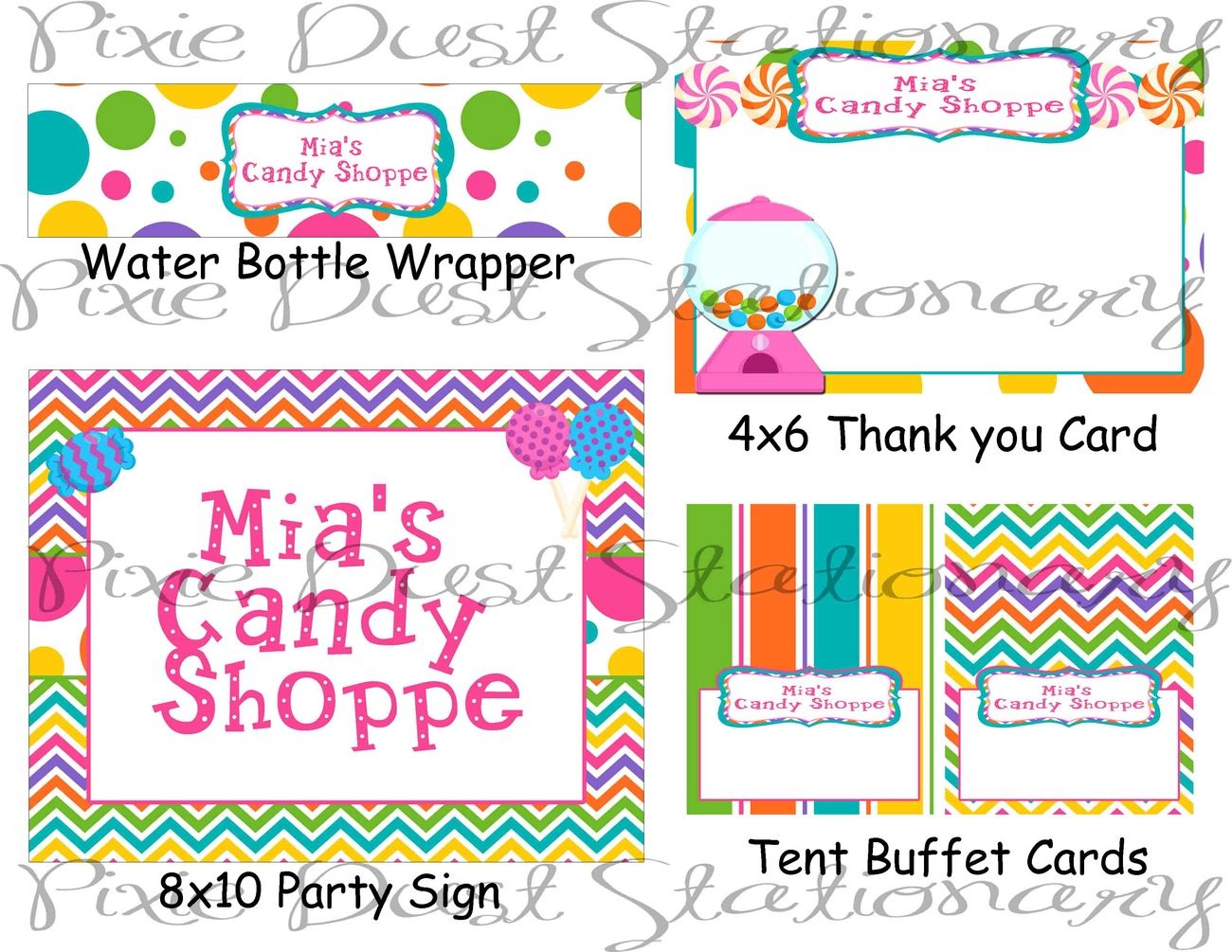 Candy shoppe themed printable party package birthday for 21st birthday decoration packages