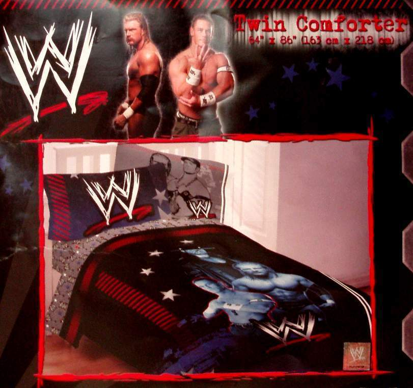 ,WWE WRESTLING TWIN COMFORTER SHEETS 4PC BEDDING NEW