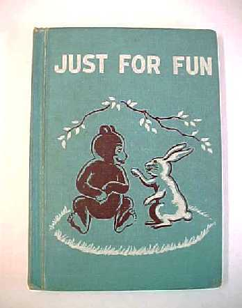 Vintage 1956 School Book - Just For Fun - Hardcover