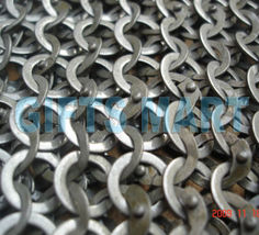 9mm Flat Riveted Washers Chain Mail Shirt Chainmail, Guaranteed Lowest P... - $318.39
