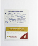 Pet Emergency Cards with Laminating Pouches - Cat (Pack of 2) - $6.50