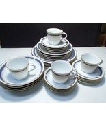 28 Piece Set Noritake Blue Dawn Dinnerware ~ Serv for Four Complete - $74.95