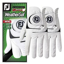 FootJoy WeatherSof Mens Golf Gloves (2 Pack) (Medium/Large|White) - $22.22