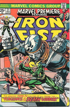 Marvel Premiere Comic Book #21 Iron Fist 1975 NEAR MINT - $135.37