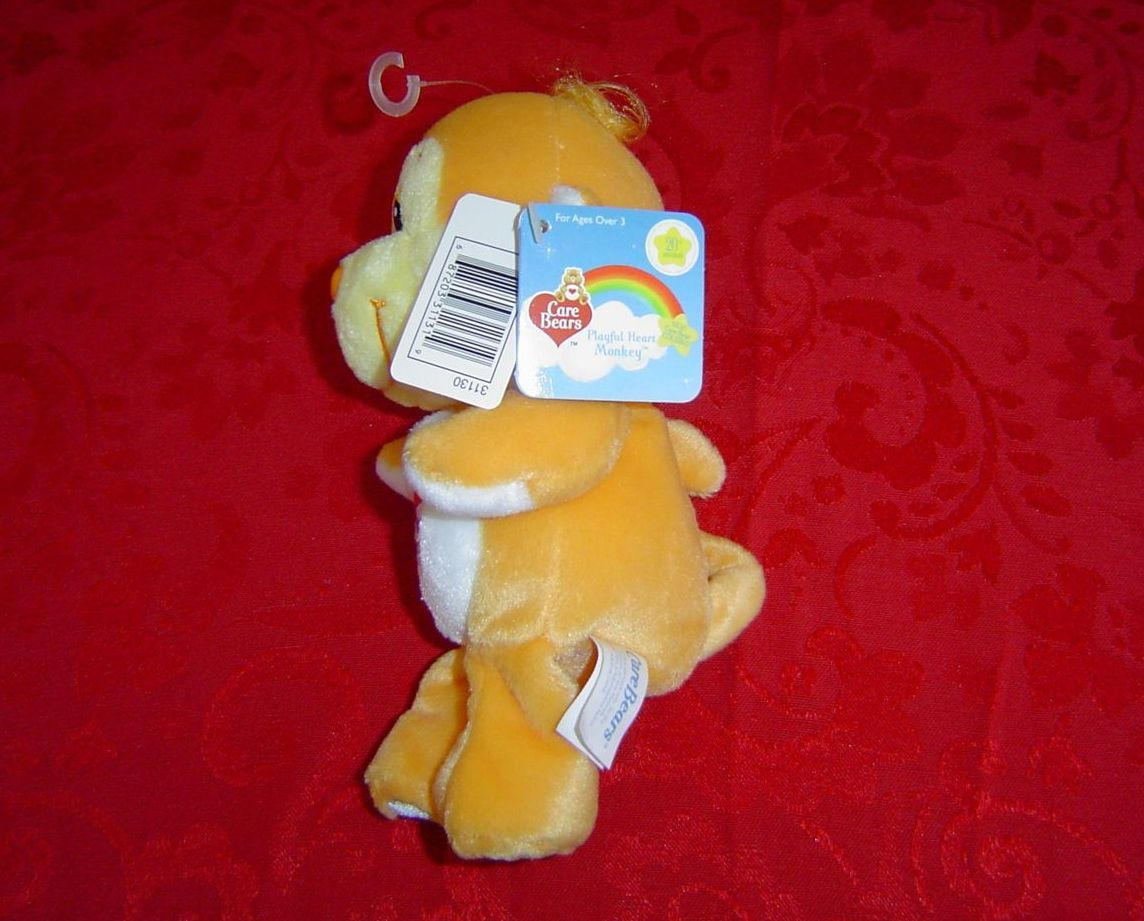 """Care Bears Cousin 8"""" Playful Heart Monkey 20th anniversary"""
