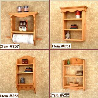 Paper Towel Holder Shelf  Country Classic
