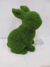 "GREEN FAUX MOSS EASTER SPRING BUNNY RABBIT FIGURE STATUE 6"" DECOR NEW - $17.99"