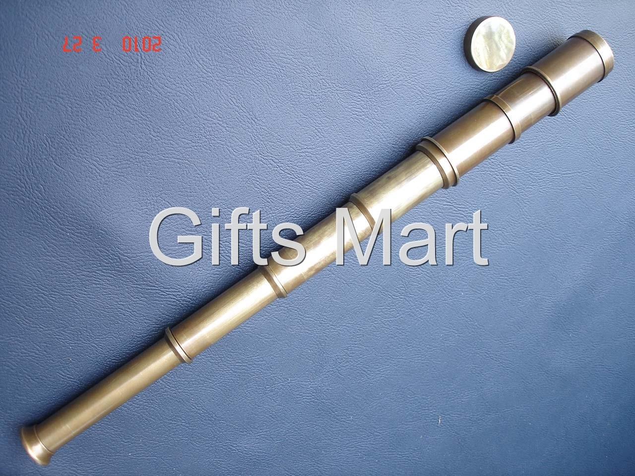 "Antique Brass Captain Ship Telescope 16"" Fancy Marine Nautical Pocket New Gift"