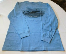 Paradise Shores Lucky's Charter Men's Long Sleeve T Shirt XL Xlarge Blue... - $34.64