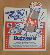 Vintage Budweiser King Of Beers Bud Beer Coaster Beer Mat  - $3.58