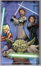 Single Light Switchplate Cover of Star Wars Clone Wars - $6.75