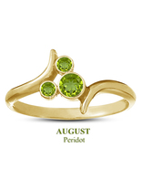 Yellow Gold Plated Mickey Mouse Women Ring August Birthstone Peridot 925... - $25.99