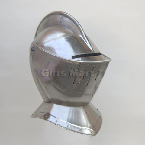 Armor Helmet Closed Love Of Medieval Enthusiasts Ancient Collectible Reenactment