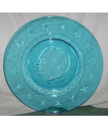 "Wheaton Clear Blue President Dwight D. Eisenhower Plate ""8 Stars - $2.95"