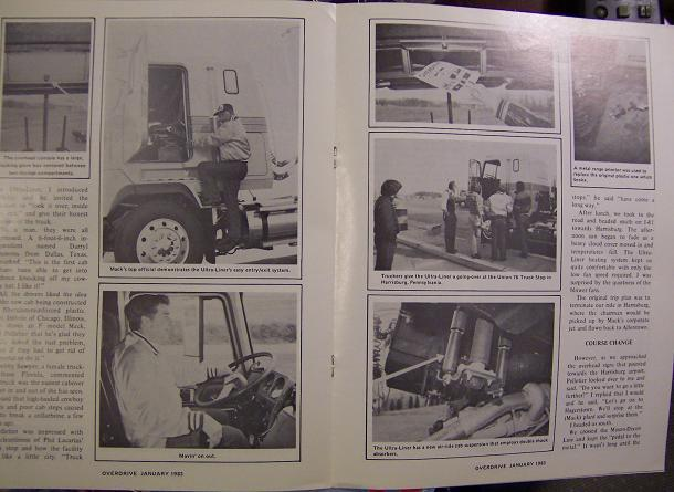 1983 Mack Ultra-Liner Cabover EQT, B61 Brochures - Lot of 5!