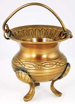 Small Celtic Brass Cauldron