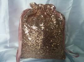 SEQUIN MONEY DANCE Bag,  Colors, Rose Gold, Wedding, Bridal, Sequins, Bl... - $29.99