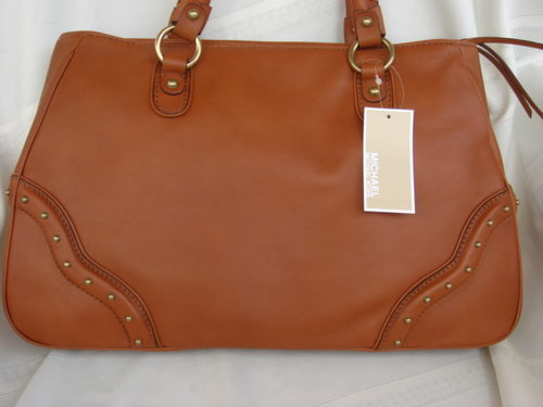Michael Kors Large Ashbury Leather Satchel Brown $370