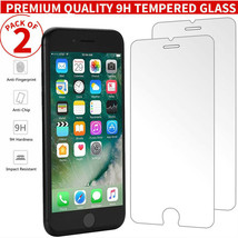 2x 100% Genuine Tempered Glass Screen Protector For Apple iPhone 7 Plus 8 Plus - $2.72