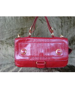 Cynthia Rowley Cherry Red Patent Leather Hilary FREE SHIP - $134.99