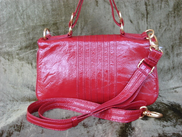 Cynthia Rowley Cherry Red Patent Leather Hilary FREE SHIP