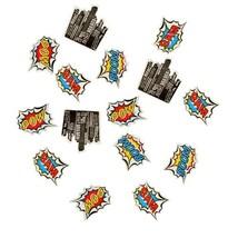 Ginger Ray Pop Art Superhero Birthday Decorations Table Party Confetti, ... - $6.77