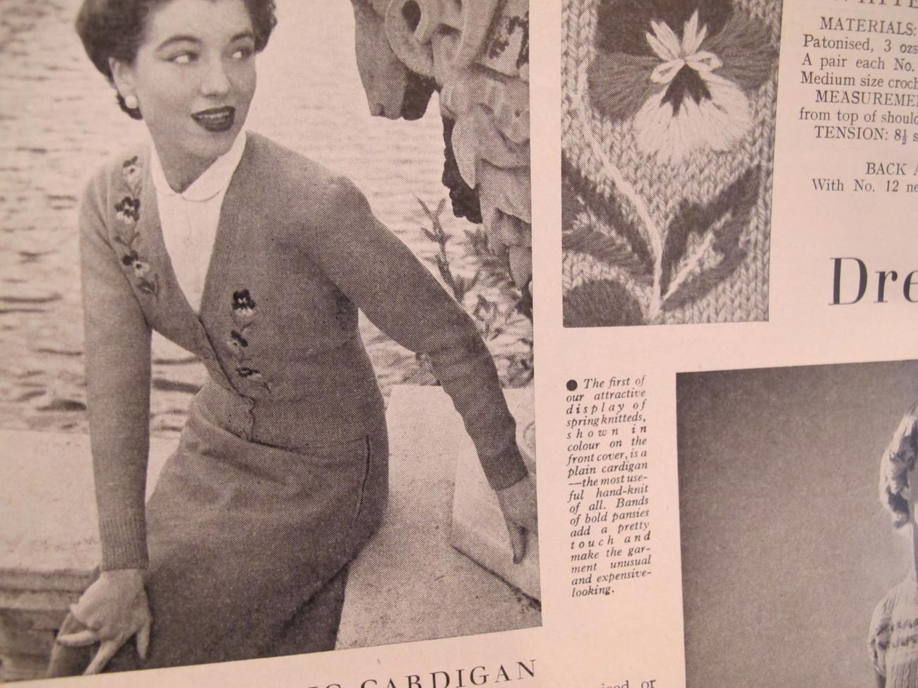 Vintage Stitchcraft Patterns Knitting Jacobean Cushion Cutwork Recipes etc