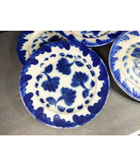 "SET OF 5 SALMON FALLS STONEWARE BLUE 10-3/4"" DINNER PLATES - EXCELLENT C... - $147.00"