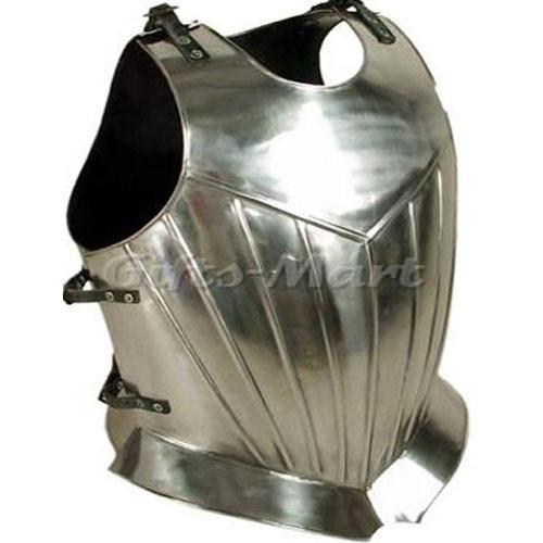 BREASTPLATE STEEL, GOTHIC CHESTPLATE, +Free Arm Guards & Norman Nasal Helmet
