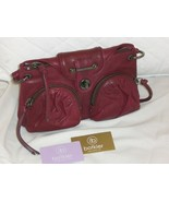 Botkier Cherry Red Leather Bianca FREE SHIP - $199.99