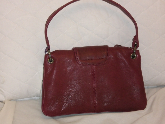 Botkier Cherry Red Leather Bianca FREE SHIP