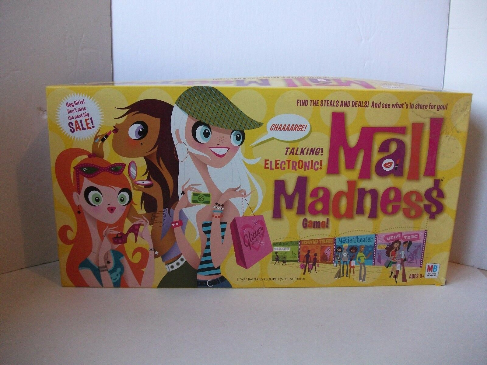 Talking Electronic Mall Madness Board Game Replacement Parts /& Pieces 2004 MB
