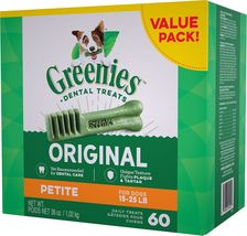 Greenies Dental Treats for Petite Dogs 15-25 lbs - 60 count - 36 oz - $39.99