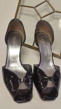5 Heel Patent Black Stilleto High Prada Leather 37 Women's 6 SZ Toe Peep Pump wxggHI4qS