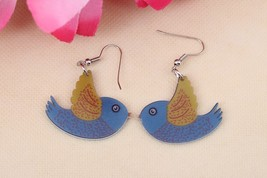 1 pair flying fish cute lovely printing drop earrings acrylic new 2014 d... - $10.00