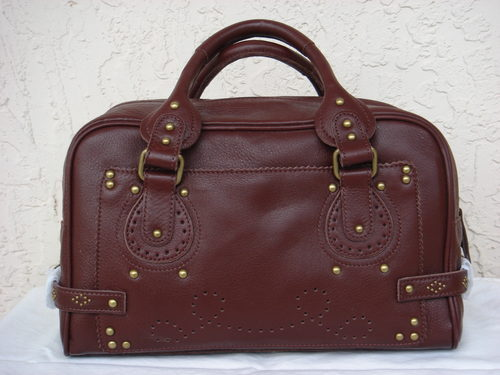 BCBG Montana Mocha Leather Satchel  $300+