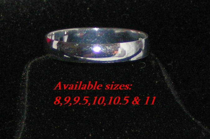 Sterling Silver Band Ring YOUR CHOICE OF SIZES Free Shipping
