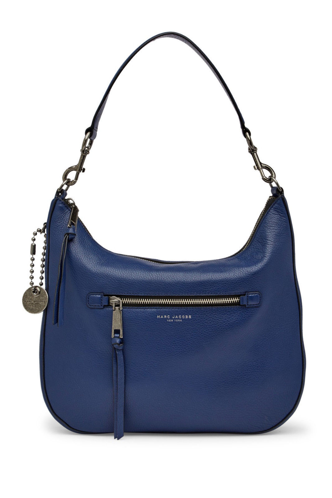 2cf65f8ce076 S l1600. S l1600. Previous. Marc Jacobs Recruit Leather Hobo Bag Purse Dark  Blue New NWT. Marc Jacobs Recruit ...