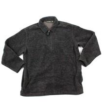 VINTAGE Timberland 1/2 Zip Pull Over Jacket Sweater 1997 Denim Collard Size L/XL - $32.08