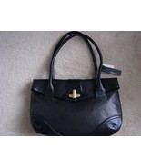 Black Leather Shoulder Bag  Kenneth Cole  - $154.99
