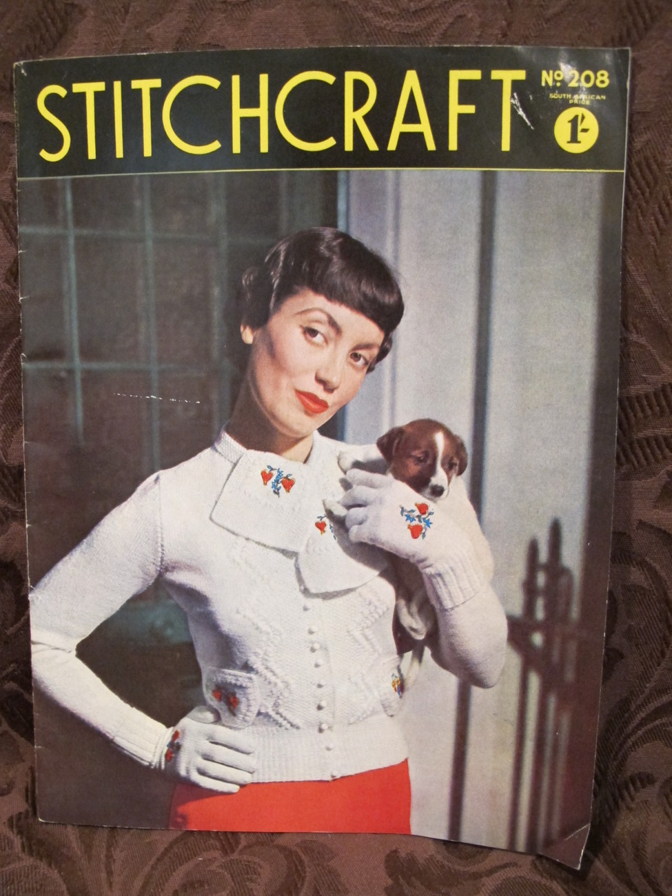 Vintage Stitchcraft Patterns Knitting Crochet Embroidery Needlework Recipes etc