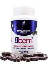 Bberri Maqui Berry Capsules, 120 Capsules of 100% Freeze Dried Maqui Berry
