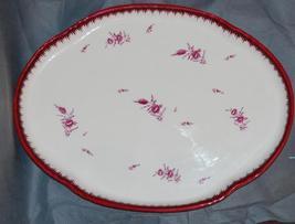 Wedgwood Creamware Puce Flower Husk Pattern Large Tea Tray 1879 - $395.00