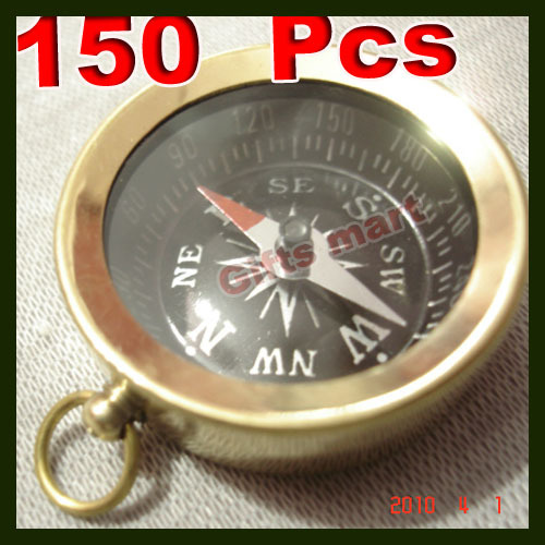 Brass COMPASS with Lid KEYCHAIN Wholesale LOT 150pcs NAUTICAL GIFT  Lowest Price