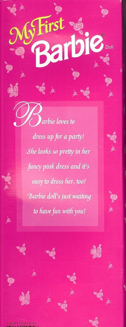 My First Barbie Easy to Dress by Mattel with pink dress, 1995, Number 14592